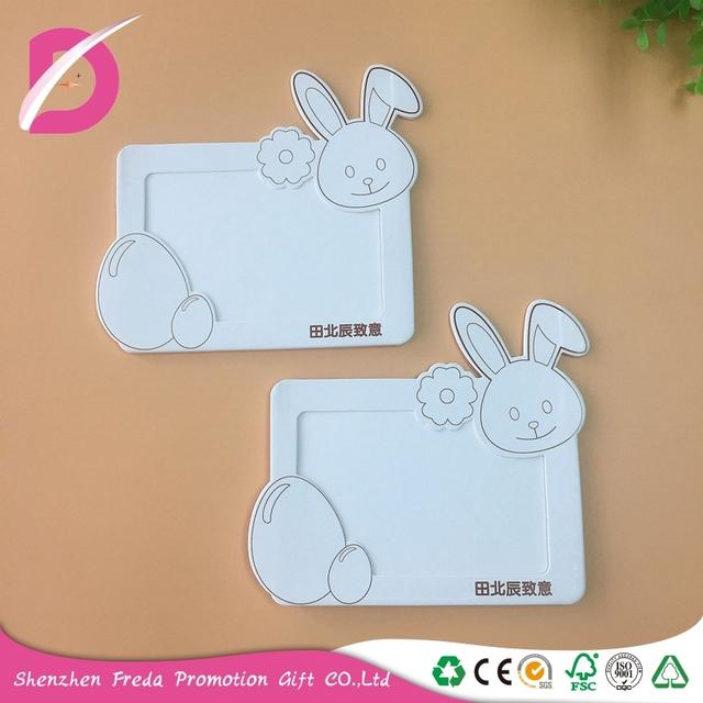 New design colorful printing rabbit shape paper made photo frame/photo album custom