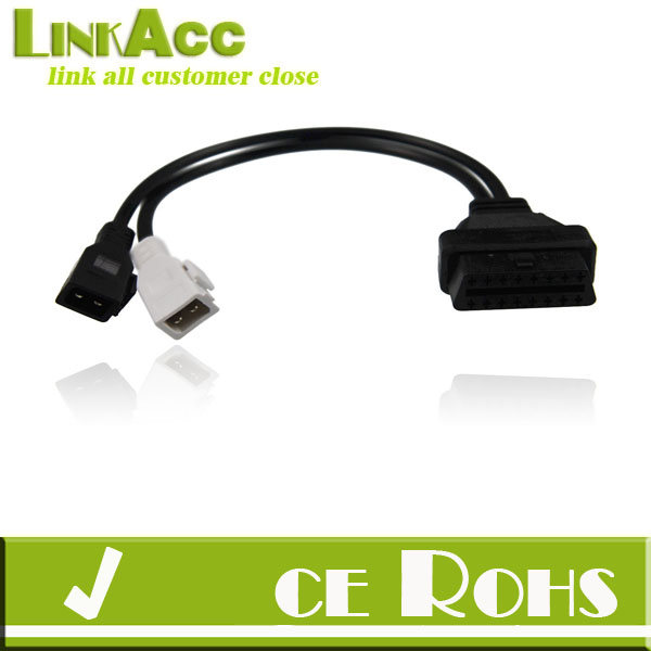 linkacc js-89 GREAT 2X2 PIN OBD to ODB2 EOBD CAR FAULT CODE DIAGNOSTIC ADAPTER CABLE FOR AUDI