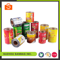 Food grade laminating food packaging plastic film roll for water sachet 500ml
