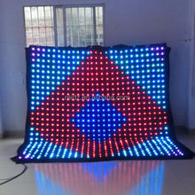 Fireproof Velvet NET cloth video screen curtain led stage light
