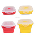 Folding Silicone Lunch Box Smart Storage Collapsible Portable Food Grade Silicone Bowl