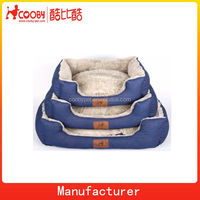 COO-2310 Best soft denim china dog pet bed