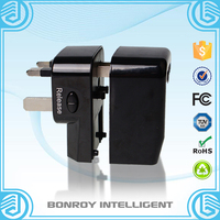 US to Euro 2 flat pin to 2 round adapter plug CE Rohs Top quality 220v to 110v plug adapter