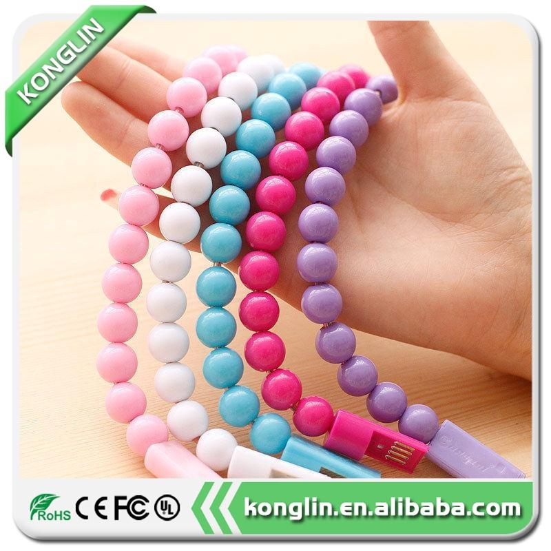 Hot selling bracelet charging line bracelet cable,colorful usb cable with low price