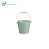 Home Decor Green Metal Tin Buckets With Handle