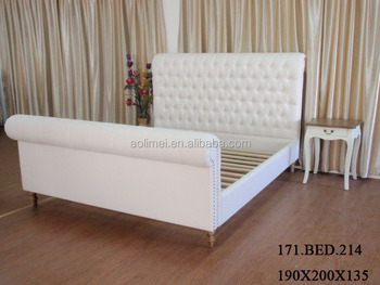 linen french chesterfield Bed