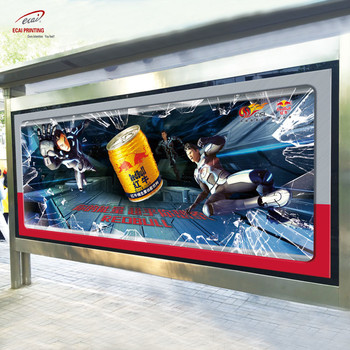 Professional made custom bus shelter poster for bus station advertising