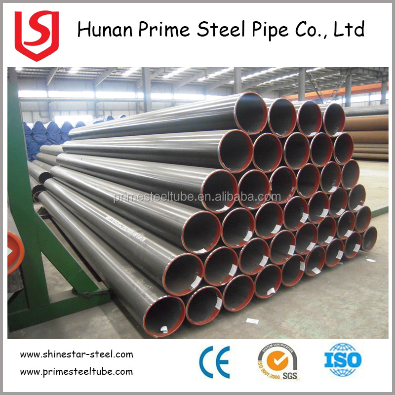 Large Diameter Black HR ERW Steel Pipes for construction