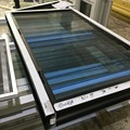 Australian standard AS2047 water proof single glazing tempered glass aluminum glass louver windows with insect screen