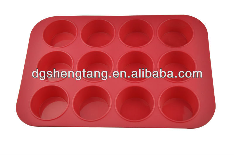 12 Cup Silicon / Silicone Muffin Tray Cupcake Cake Cases, moulds.