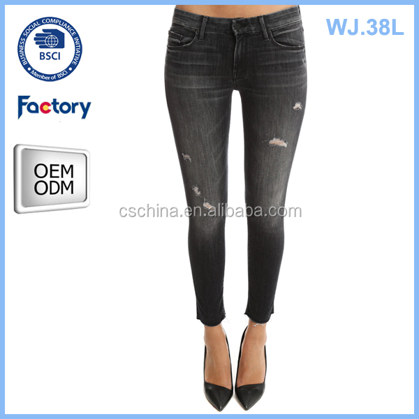 fancy female jeans, custom ladies jeans kurta ,wholesale import jeans