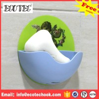 Promotion bathroom silicone rubber sticker soap dish holder