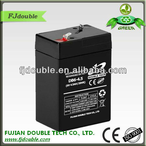 high power 6V 4.5AH Sealed Lead Acid Battery