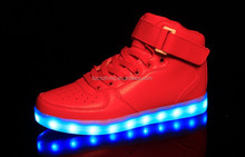high top flashing light night running led shoes men