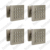 6 pieces Shower Spa Brass Square Massage Jets Spray Body Shower Set, Nickle Brush Finish With Nozzles