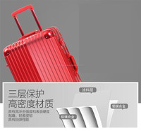 Royal quality classic aluminum trolley hard case luggage, foldable trolley luggage handle with wheels