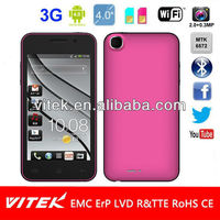 Dual Core MTK6572 Cell Phone 4.0 inch Android 4.1 Slim Design 3G Mobile