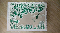 custom paper sticker distinctive artistic carving