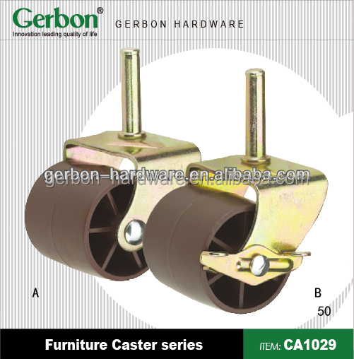 Casters for acrylic chair