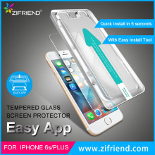 High quality ultra transparent mobile screen protector , Easy Install Premium Tempered Glass Screen Protector for iphone 6s