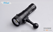 Brinyte DIV08W New arrival 1500 Lumens Underwater Video Photography Diving LED Flashlight Underwater Torch