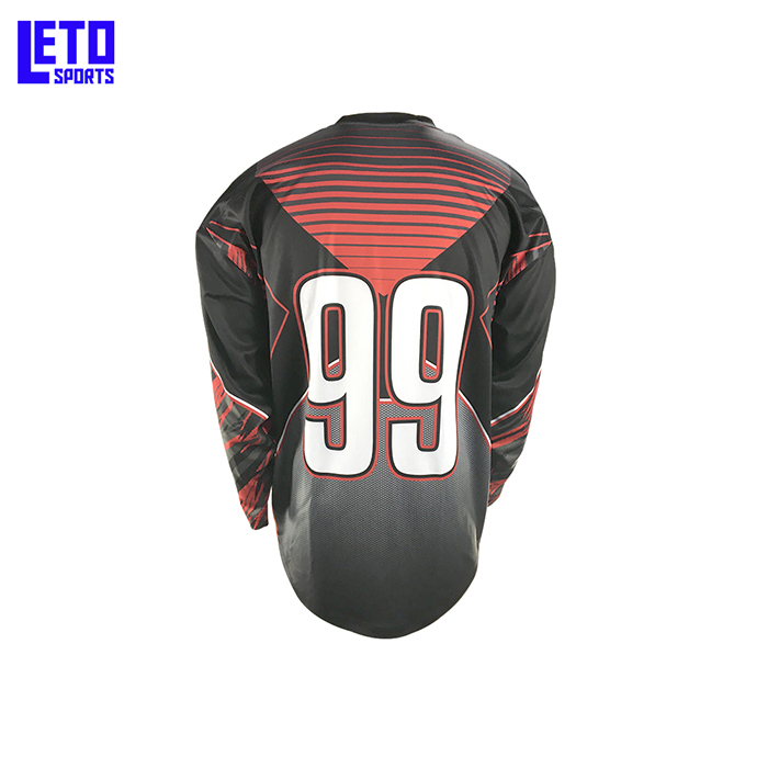 Sublimated Oversized Ice Hockey Jersey With Lace