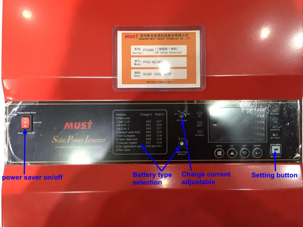 low frequency DC to AC single phase 10KW 48V solar pump inverter in solar power system