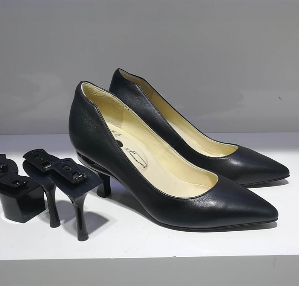 China Shoes Manufacturer Custom Made Calf Leather Shoes With Removable <strong>Heel</strong>