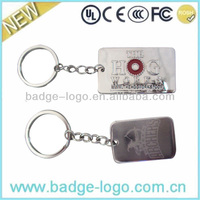 novelty promotional custom znic alloy keychain