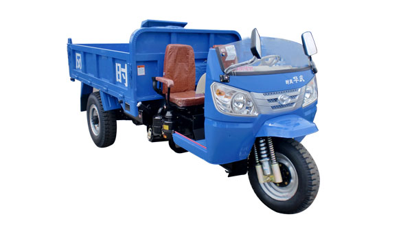 China 22HP 3000kg adult diesel truck cargo tricycle/3 wheel truck half cabin