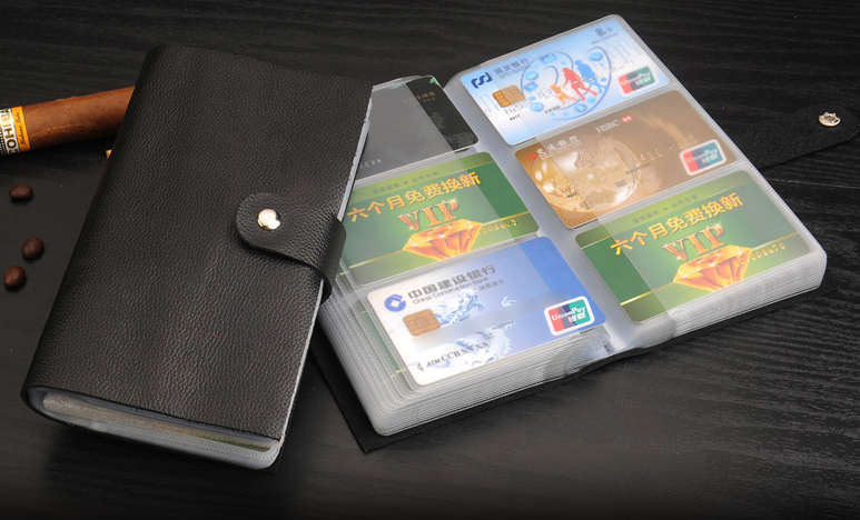 Wholesale custom genuine leather wallet card holder