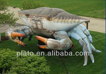 realistic blue inflatable crab