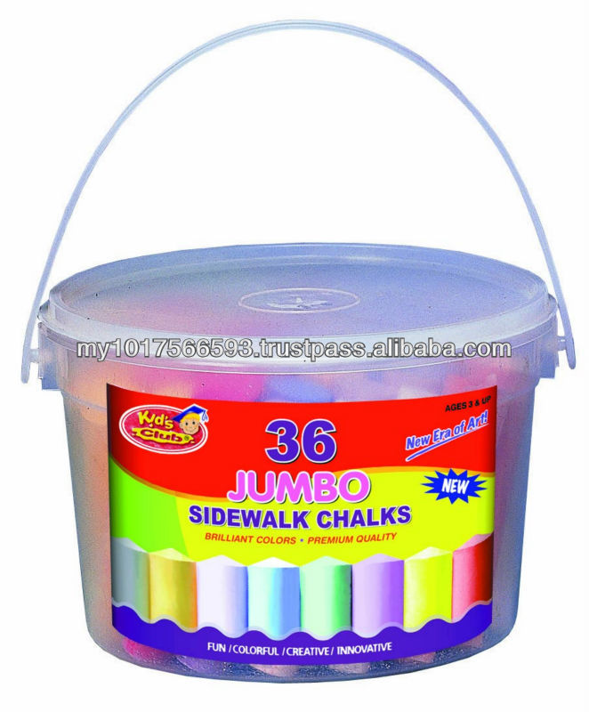 36ct Sidewalk Jumbo Dustless Colored Chalk