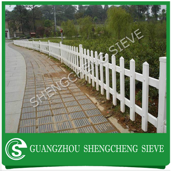 Composite picket fence,decorative indoor plastic fence,white plastic snow fence