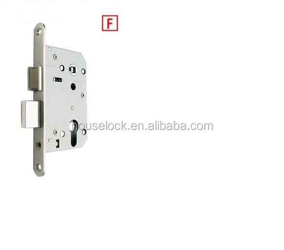stainless steel fire-rated double bolts cylinder door lock for wooden residential door