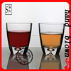 wholesale handmade 300ml crystal whiskey glass with bottom bubble ZWG0107