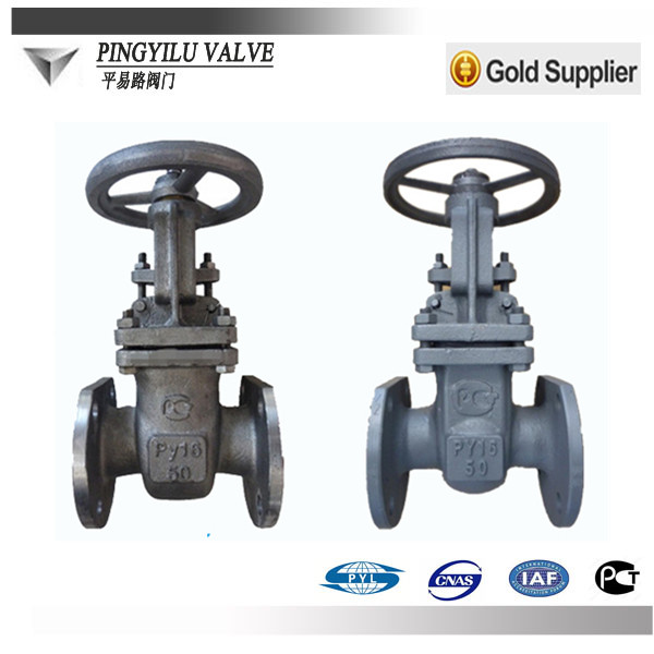 cast steel flanged long rising stem gate valve for oil and gas pipe china manufacturer