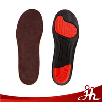 Newest breathable poron suede sport insoles sweat absorbent ortholite pu insole for sneaker