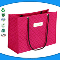 2016 newest style pink shopping bag nylon rope handle non woven shopping tote bag