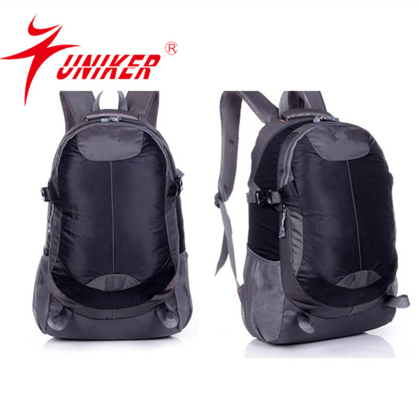 Black sports backpack with water bottle holder Nylon school bag