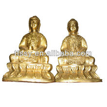 Cast bronze sitting buddha statue