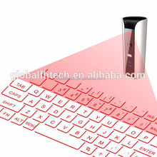 Wholesales electronic stand laser projection sticker virtual wireless bluetooth mechanical sticker keyboard