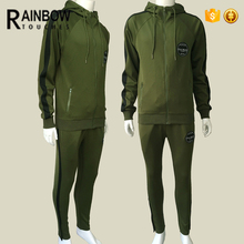 Bulk wholesale mens polyester badged breast slim fitted tracksuit