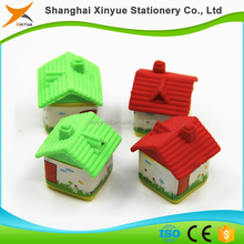 TPR 3D Children Stationary 3D Puzzle House Eraser Toys