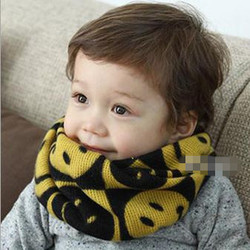 2014 NEW AUTUMN FASHION SMILING-FACE PRINTING THICKENED NECK GAITERS FOR KIDS