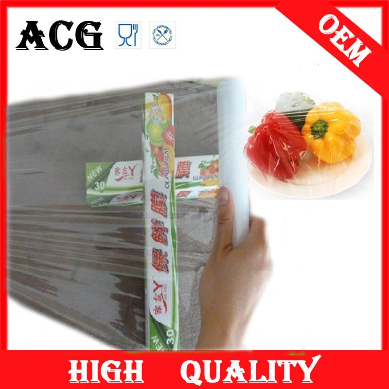 Food packing 44mic wrap stretch film for food baking