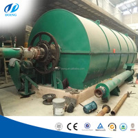 Green energy top technology recycling waste tyre /rubber/plastic into fuel oil pyrolysis plant