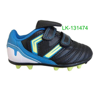 New arrival child shoe cheap children's soccer sports sneakers shoes in rubber spikes sole