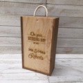 Personalised Wedding Day wooden wine box