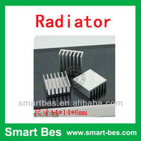 Smart Bes customized are available fan heat sink ,aluminum radiator 14*14*6MM Notebook radiator